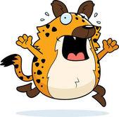 Cartoon Hyena Panic