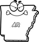 Cartoon Angry Arkansas