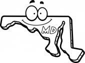 Cartoon Maryland Smiling