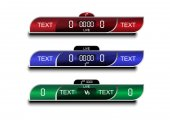 Scoreboard soccer design Sport button element Banners