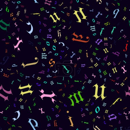 Seamless pattern English alphabet