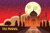 Mausoleum of Taj Mahal in Agra India