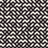 Irregular Mazy Lines Vector Seamless Black and White Pattern