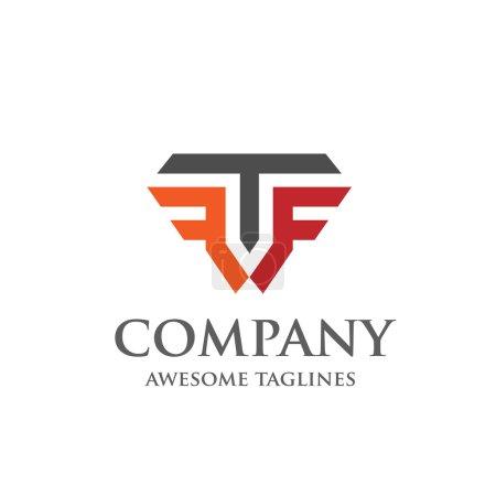 Illustration pour Lettre créative T et F logo, alphabet élégant F et T lettre logo., Illustration vectorielle - image libre de droit