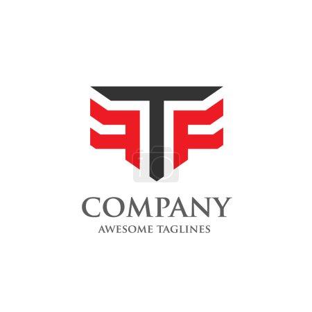 Illustration pour Logo Creative Letter T et F. Élégant alphabet F et T lettre logo. Illustration vectorielle - image libre de droit