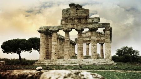 Archaeological ruins of Paestum, Italy