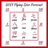 Flying star forecast 2017 Chinese hieroglyphs numbers Translation of characters-numbers Lo shu square 2017 chinese feng shui calendar 12 months Fire Rooster Year