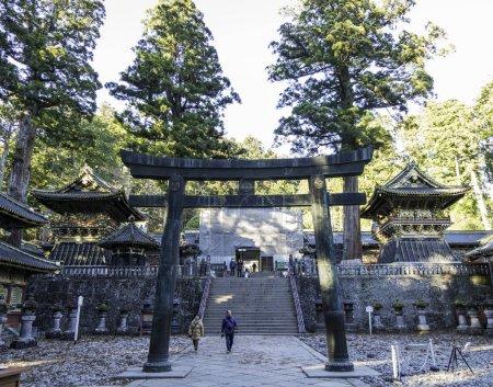 Dec 6, 2016 - Nikko, Japan: Toshogu Shinto shrine, entrance to the inside temple.