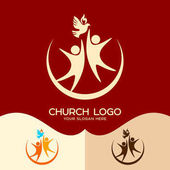 Church logo Cristian symbols The Holy Spirit and people
