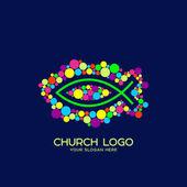 Church logo Christian symbols Fish - the symbol of Jesus Christ