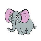 Elephant african savannah cartoon colorful vector illustration for children