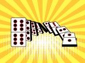 Falling dominoes comic book style vector