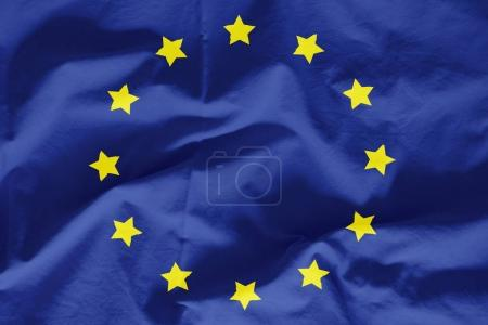 Photo pour Euro drapeau sur une texture - image libre de droit