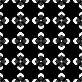 Black and white color floral seamless pattern