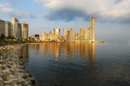 View of the financial district of Panama City, Panama