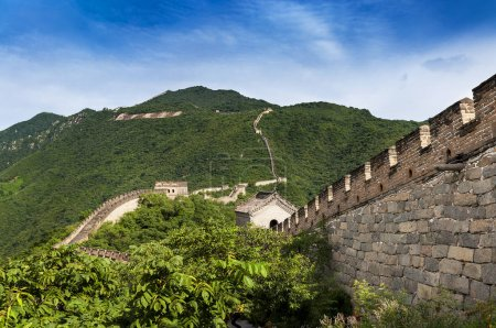 View of the China Great Wall in Mutianyu, China