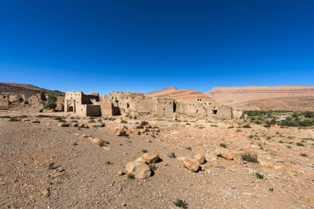 Ruins of a Kasbah in the Ziz Valley, Morocco