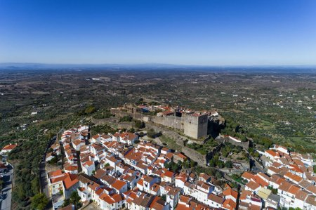 Photo for Aerial view of the Castelo de Vide village in Alentejo, Portugal; Concept for travel in Portugal and most beautiful places in Portugal - Royalty Free Image