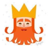 King Caspar christmas card vector illustration