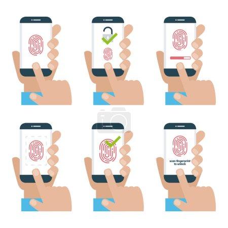 cartoon hands holding phones