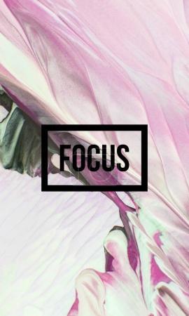 Focus motivational word
