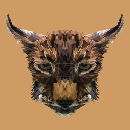 sad lynx head