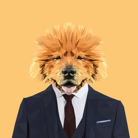 Chow chow in suit