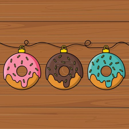 Delicious donuts with fillings
