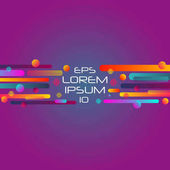 Abstract retro background with horizontal multicolored geometric shapes like space Vector illustration