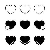 Set of heart icons vector illustration