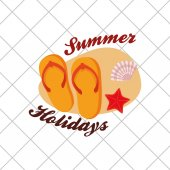 summer holidays related icons image