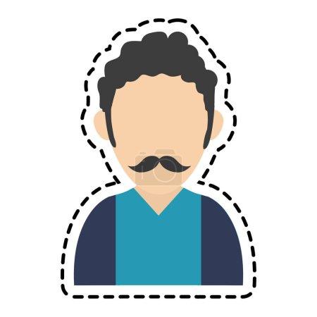 Isolated avatar man design