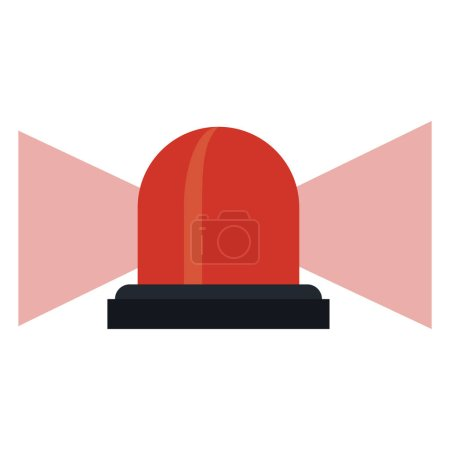 Illustration for Siren emergency alert warm vector illustration eps 10 - Royalty Free Image