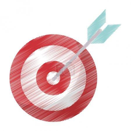 drawing target blank arrow objetive
