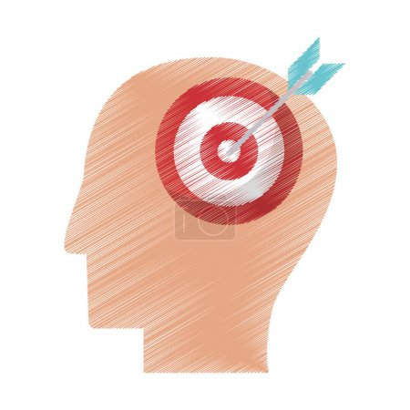 drawing profile head target objetive