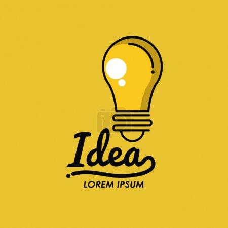 Illustration pour Idées créatives bulbe icône vectoriel illustration graphique - image libre de droit
