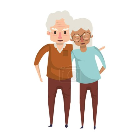 grandparents senior old people cartoon