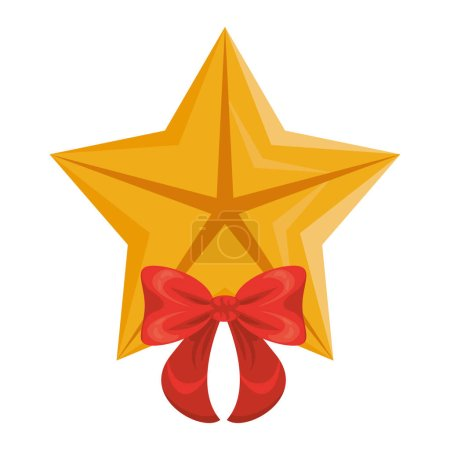 Illustration for Quality star with bow commercial isolated icon vector illustration design - Royalty Free Image