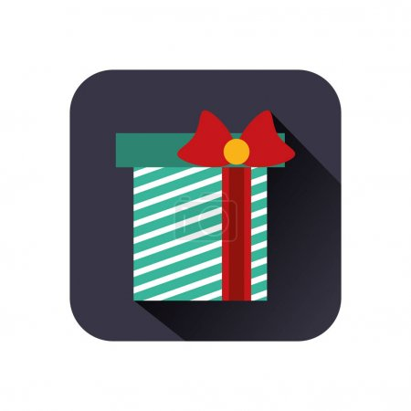 Illustration for Merry christmas gift present icon vector illustration design - Royalty Free Image