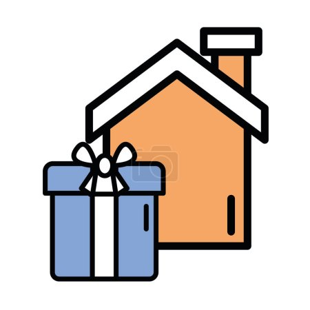 Illustration for Gift box present isolated icon vector illustration design - Royalty Free Image