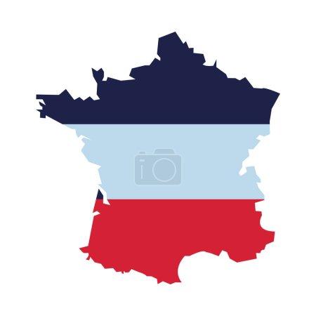 Illustration pour Drapeau france et icône de carte illustration vectorielle - image libre de droit
