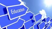 Koncepce vzdělávání šipky směřující ke slunci