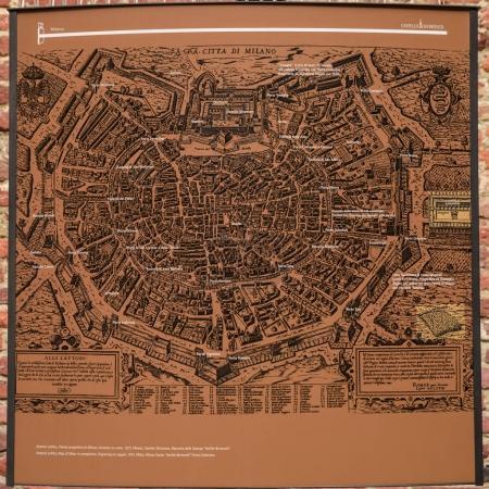 Milan Castle map