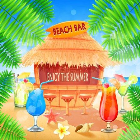 beach bar on coast