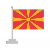 National flag of Macedonia Vector Illustration