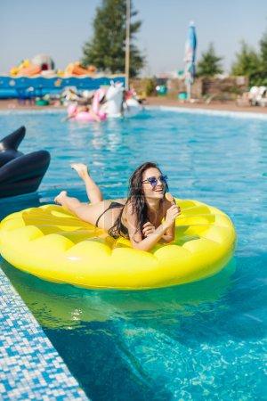 Sexy woman in bikini enjoying summer