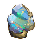 Piece of crystal opal or moonstone vector isolated