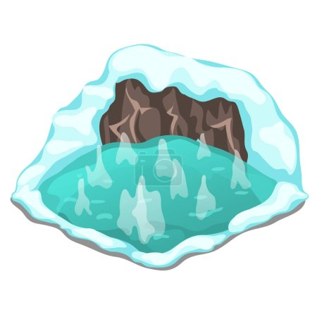 Ice cave on a white background. Vector