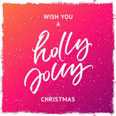 Wish you a holly jolly Christmas greeting card