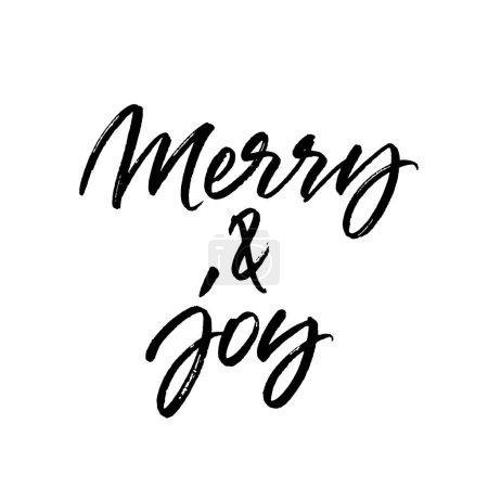Illustration pour Joyeux Noël brosse calligraphie isolé sur fond blanc - image libre de droit